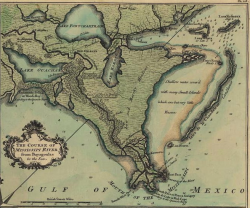 Map of the New Orleans region in 1720.